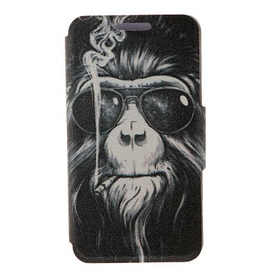 Smoking Monkey Pattern Cover Case PU Leather with Stand for Nokia Lumia 625