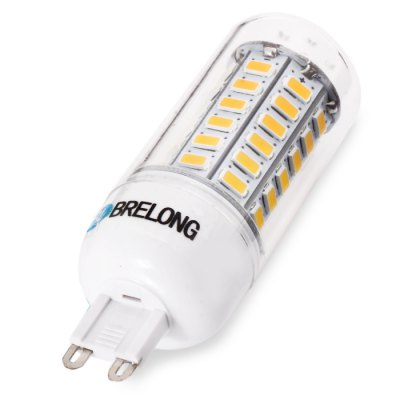 BRELONG G9 LED Corn LightCorn Bulbs<br>BRELONG G9 LED Corn Light<br><br>Available Light Color: Warm White,Cold White<br>Brand: BRELONG<br>Bulb Base Type: G9<br>CCT/Wavelength: 3000-3500K,6000-6500K<br>Emitter Types: SMD 5730<br>Features: Long Life Expectancy, Energy Saving<br>Function: Studio and Exhibition Lighting, Home Lighting, Commercial Lighting<br>Luminous Flux: 1300Lm<br>Output Power: 12W<br>Package Contents: 1 x BRELONG LED Corn Bulb<br>Package size (L x W x H): 11.00 x 4.00 x 4.00 cm / 4.33 x 1.57 x 1.57 inches<br>Package weight: 0.0650 kg<br>Product size (L x W x H): 8.50 x 2.50 x 2.50 cm / 3.35 x 0.98 x 0.98 inches<br>Product weight: 0.0290 kg<br>Sheathing Material: PC<br>Total Emitters: 56<br>Type: Corn Bulbs<br>Voltage (V): AC 220-240