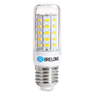 BRELONG E27 9W 5730 1100Lm LED Corn BulbCorn Bulbs<br>BRELONG E27 9W 5730 1100Lm LED Corn Bulb<br><br>Available Light Color: White,Warm White<br>Brand: BRELONG<br>Bulb Base Type: E27<br>CCT/Wavelength: 3000-3500K,6000-6500K<br>Emitter Types: SMD 5730<br>Features: Long Life Expectancy, Energy Saving<br>Function: Studio and Exhibition Lighting, Home Lighting, Commercial Lighting<br>Luminous Flux: 1100Lm<br>Output Power: 9W<br>Package Contents: 1 x BRELONG E27 SMD 5730 LED Light Bulb<br>Package size (L x W x H): 11 x 4 x 4 cm / 4.32 x 1.57 x 1.57 inches<br>Package weight: 0.066 kg<br>Product size (L x W x H): 8.5 x 2.5 x 2.5 cm / 3.34 x 0.98 x 0.98 inches<br>Product weight: 0.030 kg<br>Sheathing Material: PC<br>Total Emitters: 48<br>Type: Corn Bulbs<br>Voltage (V): AC 220-240