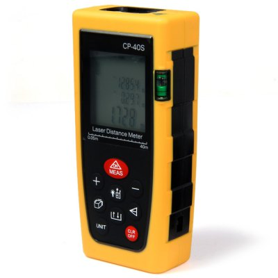 CP-40S 40 Meters Portable High Precision Laser Distance Meter with LCD DisplayLaser Rangefinder, Electronic Distance Meter<br>CP-40S 40 Meters Portable High Precision Laser Distance Meter with LCD Display<br><br>Battery Type: Alkaline Dry Battery<br>Battery Voltage: 1.5V<br>Detection Range (Meter): 0-40<br>Model: CP-40S<br>Package Contents: 1 x CP-40S Laser Distance Meter, 1 x Bag, 2 x 1.5V AAA Battery, 1 x English Manual<br>Package size (L x W x H): 18.00 x 6.30 x 4.30 cm / 7.09 x 2.48 x 1.69 inches<br>Package weight: 0.206 kg<br>Product size (L x W x H): 11.70 x 4.70 x 3.00 cm / 4.61 x 1.85 x 1.18 inches<br>Product weight: 0.134 kg