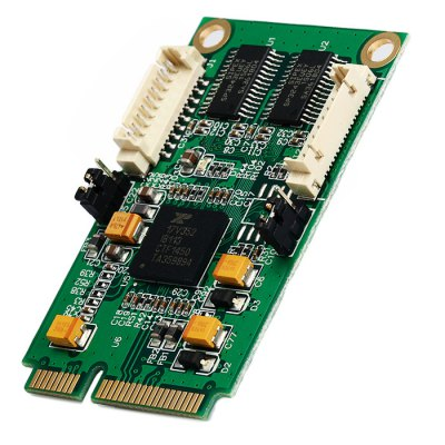IOCREST Mini PCI-Express to 2 Port RS232 Industrial Multi Serial Card Support Windows Linux