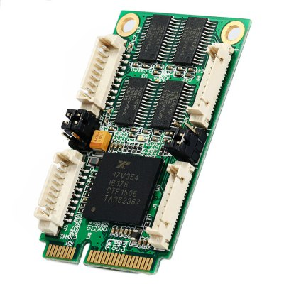 IOCREST Mini PCI-Express to 4 Port RS232 Industrial Multi Serial Card Support Windows Linux