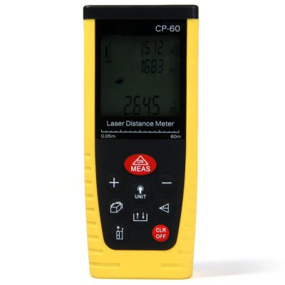 CP-60 60-Meters Portable High Precision Laser Distance Meter with LCD Display