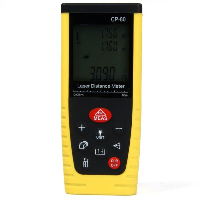 CP-80 80 Meters Portable High Precision Laser Distance Meter with LCD Display