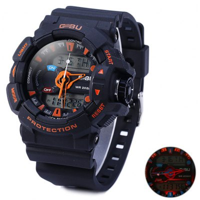 Gobu 1535 Dual Movt LED Sport Watch