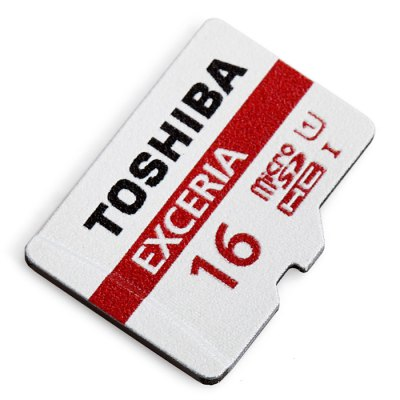 TOSHIBA Exceria 16GB Micro SDHC UHS-I Memory Card 48MB/s Class 10 Waterproof X-ray Proof Shock Proof