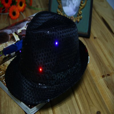 9 LED 3-Mode Luminous Paillette Jazz Hat