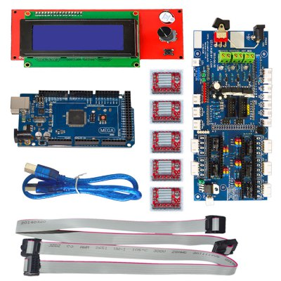 7 in 1 3D Printer Board Kit3D Printer Parts<br>7 in 1 3D Printer Board Kit<br><br>Package Contents: 1 x 3D Printer Kit<br>Package size: 21.9 x 13.2 x 6.1 cm / 8.61 x 5.19 x 2.40 inches<br>Package weight: 0.442 kg<br>Type: Controller Kit