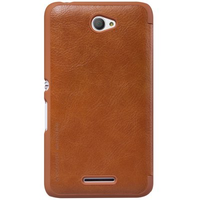 Nillkin Cover Case for Sony E4Cases &amp; Leather<br>Nillkin Cover Case for Sony E4<br><br>Brand: Nillkin<br>Color: Black,Brown,Red,White<br>Compatible Model: Sony Xperia E4<br>Features: Full Body Cases, With Credit Card Holder<br>Mainly Compatible with: Sony<br>Material: Plastic, PU Leather<br>Package Contents: 1 x Case<br>Package size (L x W x H): 18.30 x 10.20 x 1.60 cm / 7.2 x 4.02 x 0.63 inches<br>Package weight: 0.125 kg<br>Product Size(L x W x H): 13.90 x 7.60 x 1.50 cm / 5.47 x 2.99 x 0.59 inches<br>Product weight: 0.047 kg<br>Style: Solid Color