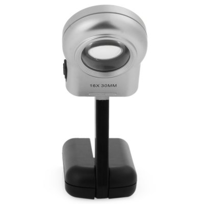TH7006A Light Magnifier 30mm Lens 16 Times Professional Mini Portable Clear High PowerMagnifiers<br>TH7006A Light Magnifier 30mm Lens 16 Times Professional Mini Portable Clear High Power<br><br>Magnification: 11-30x<br>Package Contents: 1 x TH7006A 16X Magnifier Loupe Identification with LED Light and Two Moving Parts<br>Package size (L x W x H): 15.4 x 5.1 x 2.3 cm / 6.05 x 2.00 x 0.90 inches<br>Package weight: 0.110 kg<br>Product size (L x W x H): 12.50 x 4.70 x 2.00 cm / 4.91 x 1.85 x 0.79 inches<br>Product weight: 0.054 kg
