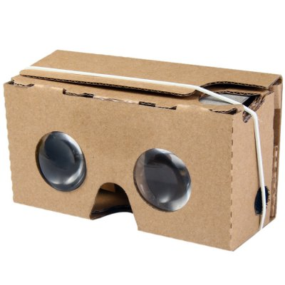 iBlue V2 DIY Cardboard 3D Glasses 6 Inch for Google VR Valencia Quality Max ( Large Lens )