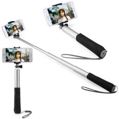Bluetooth Wireless RC Self Timer Stretch Camera Monopod with Rotating Clip Stand