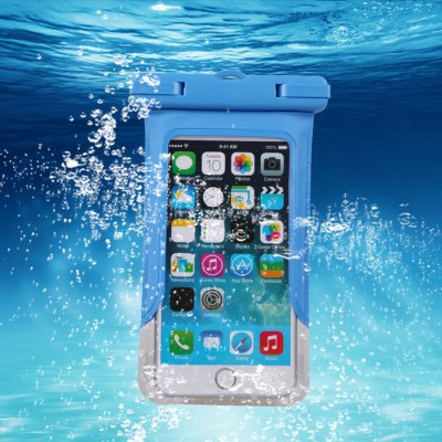 Transparent Waterproof Silicone Protective Pouch Phone Bag with Lanyard for iPhone 6 / 6 Plus Samsung S6 etc.
