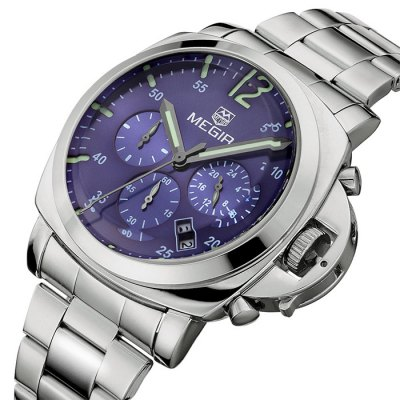 MEGIR 3006 Date Function Japan Quartz Male Watch Water Resistance with Stainless Steel BandMens Watches<br>MEGIR 3006 Date Function Japan Quartz Male Watch Water Resistance with Stainless Steel Band<br><br>Band material: Stainless Steel<br>Brand: MEGIR<br>Case material: Alloy<br>Clasp type: Folding clasp with safety<br>Display type: Analog<br>Movement type: Quartz watch<br>Package Contents: 1 x MEGIR 3006 Watch<br>Package size (L x W x H): 26 x 4.7 x 2.7 cm / 10.22 x 1.85 x 1.06 inches<br>Package weight: 0.2 kg<br>Product size (L x W x H): 25 x 3.7 x 1.7 cm / 9.83 x 1.45 x 0.67 inches<br>Product weight: 0.150 kg<br>Shape of the dial: Round<br>Special features: Date, Moving small three stitches<br>The dial diameter: 3.7 cm / 1.53 inches<br>The dial thickness: 1.7 cm / 0.39 inches<br>Watch style: Business<br>Watches categories: Male table<br>Water resistance : 30 meters