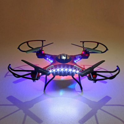 JJRC H8D 6 Axis Gyro 2.4GHz 4CH FPV RC Quadcopter with 2MP Camera / 360 Degree Eversion RTFRC Quadcopters<br>JJRC H8D 6 Axis Gyro 2.4GHz 4CH FPV RC Quadcopter with 2MP Camera / 360 Degree Eversion RTF<br><br>Brand: JJRC<br>Channel: 4-Channels<br>Detailed Control Distance: About 100m<br>Features: 5.8G FPV<br>Flying Time: 8~9mins<br>Functions: With light, Up/down, Turn left/right, Sideward flight, Forward/backward, Camera, 360 degrees spin<br>Level: Intermediate Level<br>Material: Plastic, Electronic Components<br>Mode: Mode 2 (Left Hand Throttle)<br>Model Power: Built-in rechargeable battery<br>Motor Type: Brushed Motor<br>Package Contents: 1 x Quadcopter ( Battery Included ), 1 x Transmitter, 1 x EU Charger, 1 x Converter Adapter, 4 x Blades, 1 x Camera, 1 x FPV Monitor, 1 x Antenna, 4 x Protect Covers, 2 x Landing Gears, 1 x Screwdrive<br>Package size (L x W x H): 46.00 x 9.50 x 25.50 cm / 18.11 x 3.74 x 10.04 inches<br>Package weight: 1.2670 kg<br>Product size (L x W x H): 33.00 x 33.00 x 11.00 cm / 12.99 x 12.99 x 4.33 inches<br>Radio Mode: Mode 2 (Left-hand Throttle)<br>Remote Control: 2.4GHz Wireless Remote Control<br>Transmitter Power: 4 x 1.5V AA battery(not included)<br>Type: Quadcopter