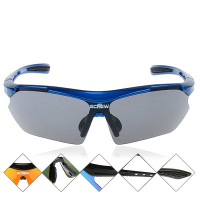 SCREW 9801 Cycling Anti-UV Sunglasses Eyeswear for Outdoor Camping Hiking