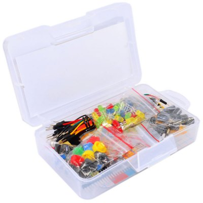 KEYES KT0019 Electronic Component PackageKits<br>KEYES KT0019 Electronic Component Package<br><br>Package Size(L x W x H): 15.2 x 8.7 x 4 cm / 5.97 x 3.42 x 1.57 inches<br>Package weight: 0.240 kg<br>Product weight: 0.071 kg<br>Suitable for: Arduino