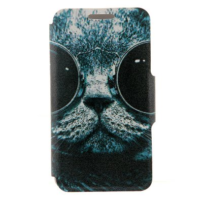 Sunglass Cat Pattern Cover Case with Stand and Card Slot for Sony Xperia Z3
