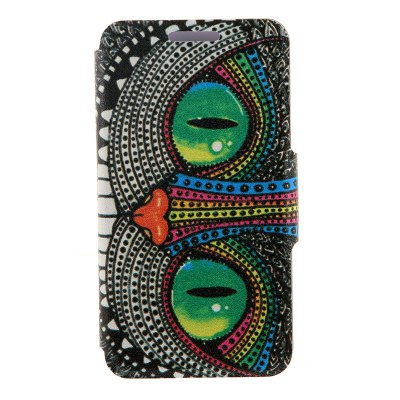Shining Eye Monster Cover Case with Stand and Card Slot for Motorola moto E