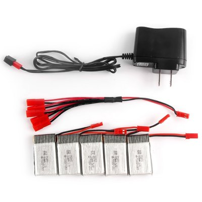 MJX X400 / X800 2 to 5 U.S Pattern ChargerRC Quadcopter Parts<br>MJX X400 / X800 2 to 5 U.S Pattern Charger<br><br>Package Contents: 5 x Battery, 1 x 2 to 5 Cable, 1 x Charger<br>Package size (L x W x H): 20 x 16 x 4 cm / 7.86 x 6.29 x 1.57 inches<br>Package weight: 0.150 kg<br>Product size (L x W x H): 16 x 12 x 3 cm / 6.29 x 4.72 x 1.18 inches<br>Type: Chargers &amp; Cables, Batteries