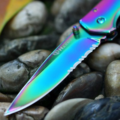 HARNDS CK6014A Colorful Folding KnifePocket Knives and Folding Knives<br>HARNDS CK6014A Colorful Folding Knife<br><br>Blade Edge Type: Fine<br>Blade Length: 7.5cm<br>Blade Width : 2.0cm<br>Color: Multi-color<br>Fold Length: 10.0cm<br>For: Daily Use, Home use, Adventure, Hiking, Camping, Climbing<br>Lock Type: Liner Lock<br>Material: 8Cr14MoV Stainless Steel<br>Package Contents: 1 x HARNDS CK6014A Folding Knife<br>Package size (L x W x H): 14.5 x 5.0 x 4.5 cm / 5.70 x 1.97 x 1.77 inches<br>Package weight: 0.150 kg<br>Product weight: 0.091 kg<br>Type: Multitools<br>Unfold Length: 17.5cm