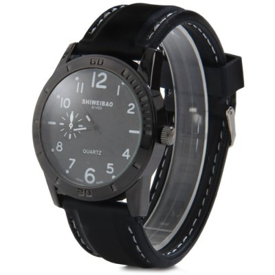 Shiweibao A1453 Rubber Band Men Quartz Watch with Decorative Sub-dialMens Watches<br>Shiweibao A1453 Rubber Band Men Quartz Watch with Decorative Sub-dial<br><br>Available Color: White,Red,Blue,Orange<br>Band material: Rubber<br>Brand: Shiweibao<br>Case material: Stainless Steel<br>Clasp type: Pin buckle<br>Display type: Analog<br>Movement type: Quartz watch<br>Package Contents: 1 x Shiweibao A1453 Watch<br>Package size (L x W x H): 27.3 x 5.5 x 2.1 cm / 10.73 x 2.16 x 0.83 inches<br>Package weight: 0.127 kg<br>Product size (L x W x H): 26.3 x 4.5 x 1.1 cm / 10.34 x 1.77 x 0.43 inches<br>Product weight: 0.077 kg<br>Shape of the dial: Round<br>The band width: 2.5 cm / 0.98 inches<br>The dial diameter: 4.5 cm / 1.77 inches<br>The dial thickness: 1.1 cm / 0.43 inches<br>Watch style: Fashion<br>Watches categories: Male table<br>Wearable length: 19 - 24 cm / 7.48 - 9.45 inches