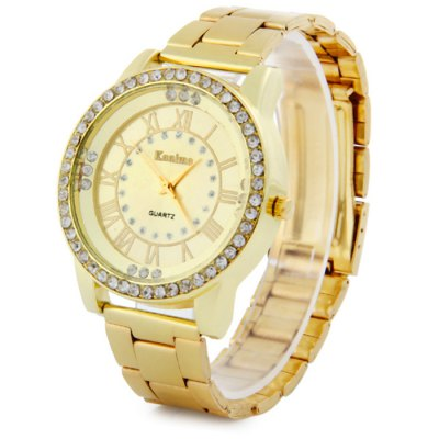 Kanima Diamond Lady Golden Color Quartz Watch with Stainless Steel BodyWomens Watches<br>Kanima Diamond Lady Golden Color Quartz Watch with Stainless Steel Body<br><br>Available Color: Gold,Rose Gold<br>Band material: Stainless Steel<br>Brand: Kanima<br>Case material: Stainless Steel<br>Clasp type: Folding clasp with safety<br>Display type: Analog<br>Movement type: Quartz watch<br>Package Contents: 1 x Kanima Watch<br>Package size (L x W x H): 15 x 5.2 x 1.8 cm / 5.90 x 2.04 x 0.71 inches<br>Package weight: 0.122 kg<br>Product size (L x W x H): 14 x 4.2 x 0.8 cm / 5.50 x 1.65 x 0.31 inches<br>Product weight: 0.072 kg<br>Shape of the dial: Round<br>Style: Fashion&amp;Casual, Diamond<br>The band width: 1.8 cm / 0.71 inches<br>The dial diameter: 4.2 cm / 1.65 inches<br>The dial thickness: 0.8 cm / 0.31 inches<br>Watches categories: Female table