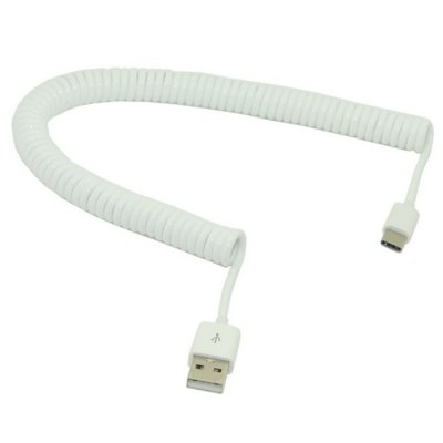3m Spring Style Stretch USB CableChargers &amp; Cables<br>3m Spring Style Stretch USB Cable<br><br>Cable Length (cm): 3 m / 118.1 inches<br>Color: White<br>Interface Type: USB 3.1, USB Type-C<br>Package Contents: 1 ? Cable<br>Package size (L x W x H): 5.00 x 5.00 x 5.00 cm / 1.97 x 1.97 x 1.97 inches<br>Package weight: 0.0450 kg<br>Product size (L x W x H): 4.50 x 4.50 x 4.50 cm / 1.77 x 1.77 x 1.77 inches<br>Product weight: 0.0200 kg<br>Type: Cable