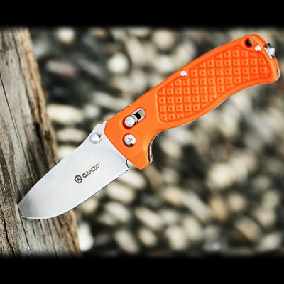 Ganzo G724M - OR Portable Axis Locking Foldable Camping Hunting Knife 440C Stainless Steel Blade