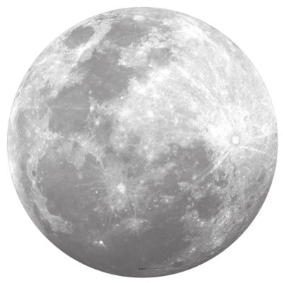 Full Moon Style Fluorescent Moon Wall Stickers