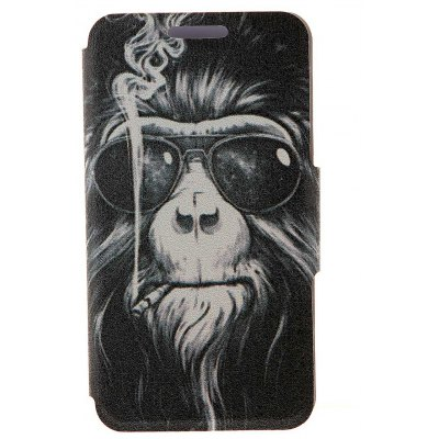 Smoking Monkey Pattern Cover Case with Stand and Card Slot for Sony Xperia Z3