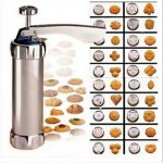 Press Biscuit Cookie Making Machine Cake Maker 20 Moulds 4 Nozzles / Kitchen Cooking Tools