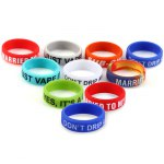 10pcs Non - skid Mod Silicone Ring Electronic Cigarette Silicon Vape Ring for Mechanical Mod