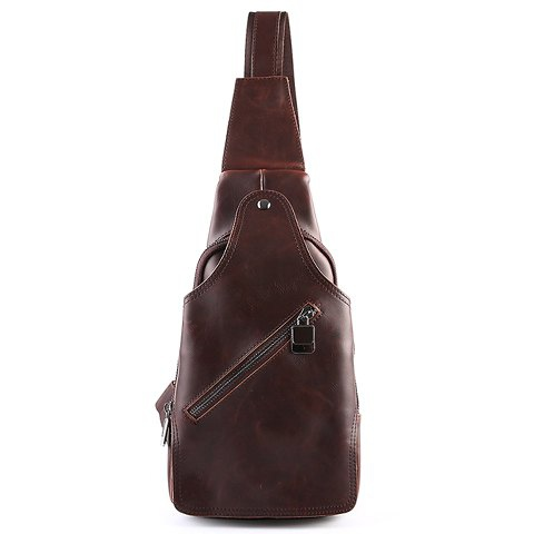 Stylish Style PU Leather and Solid Color Design Men's Messenger Bag