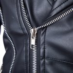 best Trendy Lapel Slimming Solid Color Multi-Zipper Long Sleeve PU Leather Jacket For Men(with Belt)
