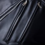 Trendy Lapel Slimming Solid Color Multi-Zipper Long Sleeve PU Leather Jacket For Men(with Belt) photo