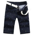 Buy Summer Straight Leg Fitted Funny Cartoon Animal Print Zipper Fly Men's Plus Size Shorts 29