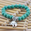 Fake Turquoise Beads Elephant Charm Bracelet deal