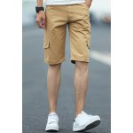Buy Khaki Casual Style Straight Leg Zipper Fly Multi-Pocket Solid Color Loose Fit Men's Harem Shorts-20.63 Online Shopping GearBest.com