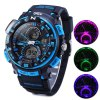 Gobu 1510 Flashing Light Dual Movt LED Sport Watch Water Resistance Rubber Band deal