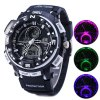 best Gobu 1510 Flashing Light Dual Movt LED Sport Watch Water Resistance Rubber Band