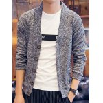 Buy Light gray Fashion V-Neck Single Breasted Slimming Long Sleeve Polyester Cardigan Men-20.19 Online Shopping GearBest.com