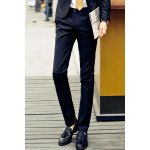 Buy Black Simple Straight Leg Zipper Fly Solid Color Pocket Embellished Slimming Men's Suit Pants-23.55 Online Shopping GearBest.com