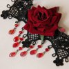 Gothic Lace Flower Drop Beads Necklace For Women photo