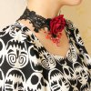 cheap Gothic Lace Flower Drop Beads Necklace For Women
