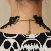 Gothic Lace Flower Drop Beads Necklace For Women deal