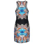 Alluring Round Neck Sleeveless Printed Women's Dress for sale