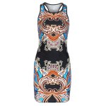 Alluring Round Neck Sleeveless Printed Women's Dress deal