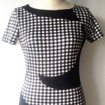 Stylish Scoop Neck Short Sleeve Plaid Bodycon Dress For Women deal