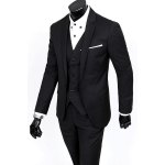 cheap Laconic Lapel Special Breast Pocket Single-Breasted Slim Fit Long Sleeves Men's Blazer Three-Piece Suits(Blazer+Vest+Pants)